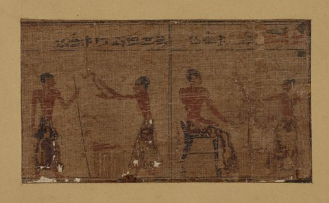 Papyrus fragments from The book of the dead